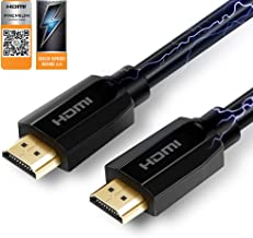 HDMI Cable, Mrocioa HDMI Cable with Premium Certified 3 feet 18Gbps high Speed Support HDCP 2.2 and 4k + HDR / 2160P/ 1080P/ 720P etc. Design for PS4 PRO/Xbox ONE X/Apple TV 4K HDMI2.0 Device.
