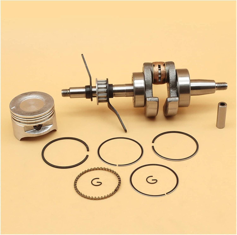 Eje de cigüeñal Juego de anillo de pistón de cigüeñal de 39 mm Compatible con H-ONDA GX35 GX 35 Motor de 4 tiempos Accesorios para recortadora de motor Piezas para desbrozadoras 13101-Z0Z-000