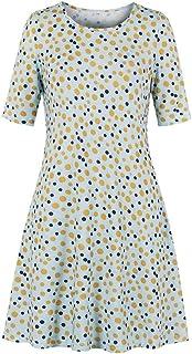 YYLZA Summer Autumn Women Dress Round Neck Half Sleeves Vintage Casual Dress