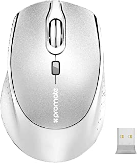 Promate 2.4G Wireless Mouse, Portable 4 Button Wireless Mice with 3 Adjustable DPI Level, Auto Sleep, 15 Meter Range and A...