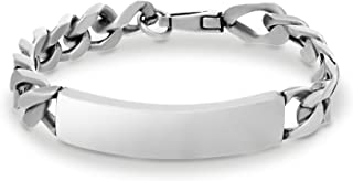 8 inch Polished Stainless Steel ID Plate Curb Chain...