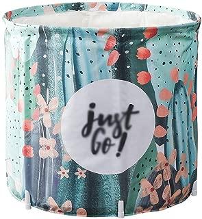 SHYPT Folding Bath Bucket,Portable Bathtub Soaking Bath Tub Freestanding Plastic Bathing Tub for Shower Stall