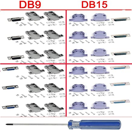 BERLS 3 Unidades Adaptador de Conector DB9 Hembra a Hembra