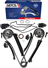 MOCA Timing Chain Kit Cam Phasers Cover Gasket for 2004-2013 Ford F-150 Expedition & Ford F-250 Super Duty & Lincoln Navigator 5.4L 3-Valve V8