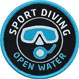 Club of Heroes 2 x Taucher Aufnäher gewebt 62 mm/Sport Diving Tauchen Open Water Diver/Aufnäher...