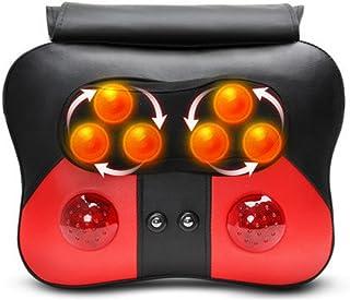 AMYMGLL Multi-función de masaje almohada masaje instrumento eléctrico casa coche masaje máquina seis masajes de cuero PU de cuero para aliviar el dolor
