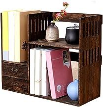 File Sorters Storage Office Supplies Desktop Organizer Vintage Bookshelf with Drawers Desktop Organizer Storage Home Decor...