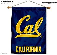 Cal Berkeley Golden Bears Cal Logo Banner with Hanging Pole