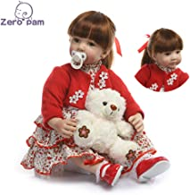 Zero Pam Binxing Toys Reborn Toddler Dolls 24 inch Realistic Soft Silicone Vinyl Weighted Reborn Baby Dolls Real Life for Toddler Girls