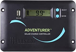 Renogy Adventurer 30A 12V/24V Negative Ground PWM Flush Mount Charge Controller with LCD Display, Compatible with Sealed, Gel, Flooded and Lithium Batteries