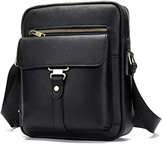 Brown Briefcase,The First Layer of Leather Men's Bag,Fashion Single Shoulder Bag, Casual Retro Diagonal Package Comfortable