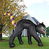 Haunted Hill Farm HIBCAT201-L Black 20 ft Cat Halloween Blow Up Inflatable