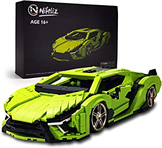 بلوک های ساختمانی و اسباب بازی های ساختمانی MOC Nifeliz Mini SAI Sports ، مدل های کلکسیونی بزرگسالان برای ساخت ، مدل اتومبیل ورزشی مقیاس 1:14 (1133 عدد)