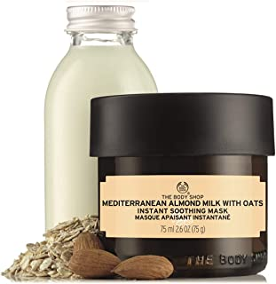 The Body Shop Mediterranean Almond Milk With Oats Soothing Mask, 2.6 Fluid Ounce