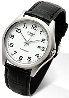 Casio Dress Watch for Men, Analog - Leather