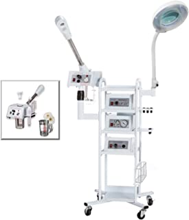 A9 Facial Machine: High Frequency Aromatherapy Steamer, Galvanic, Brush Massager, Vacuum Extractor, Spray Diffuser and Mobile Cart