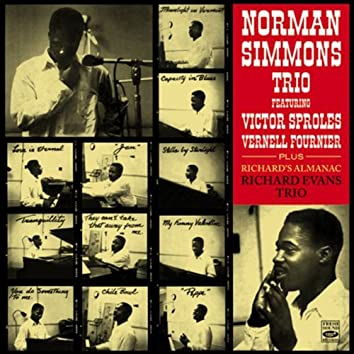 """Norman Simmons Trio Featuring Victor Sproles and Vernell Fournier, Plus Richard Evans Trio """"Richard's Almanac"""" With Jack Wilson and Robert Barry"""