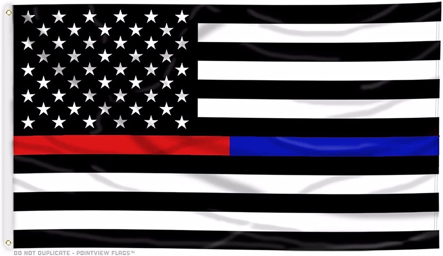 Amazon Com Usa Thin Blue Line And Red Line Law Enforcement Police Fire Ems Heros 3 X5 Flag Home Kitchen