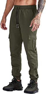 Yidarton Men's Basic Jogger Pants Slim Fit Cargo Pants Casual Workout Sweatpants Trousers with Pockets