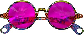 Izgut Sparkling John Lennon's Kaleidoscope Glasses with Pink Lenses