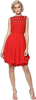 RARE Crepe a-line Dress