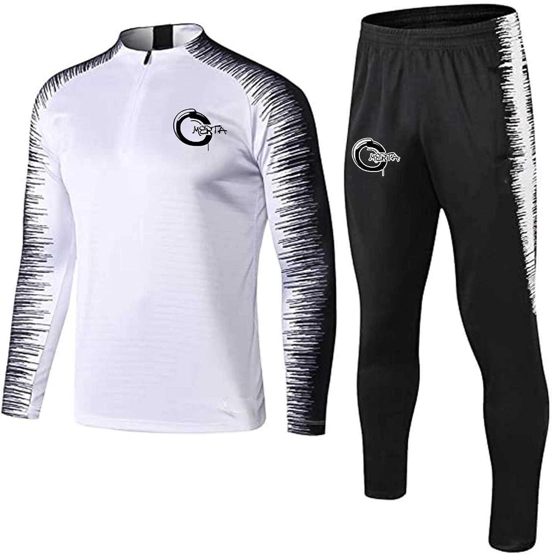 WUAI-Men 2 Pieces Outfit Set Casual Tracksuit Long Sleeve Sweatshirt Sports Jogging Gym Sweatsuit Loungewear