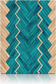 Homeyard Canvas Prints Wall Art Flooring Wood Parquet Game Herringbone Planks 12 x 16 Inches Wooden Framed Artwork Painting Home Decor Bedroom Office
