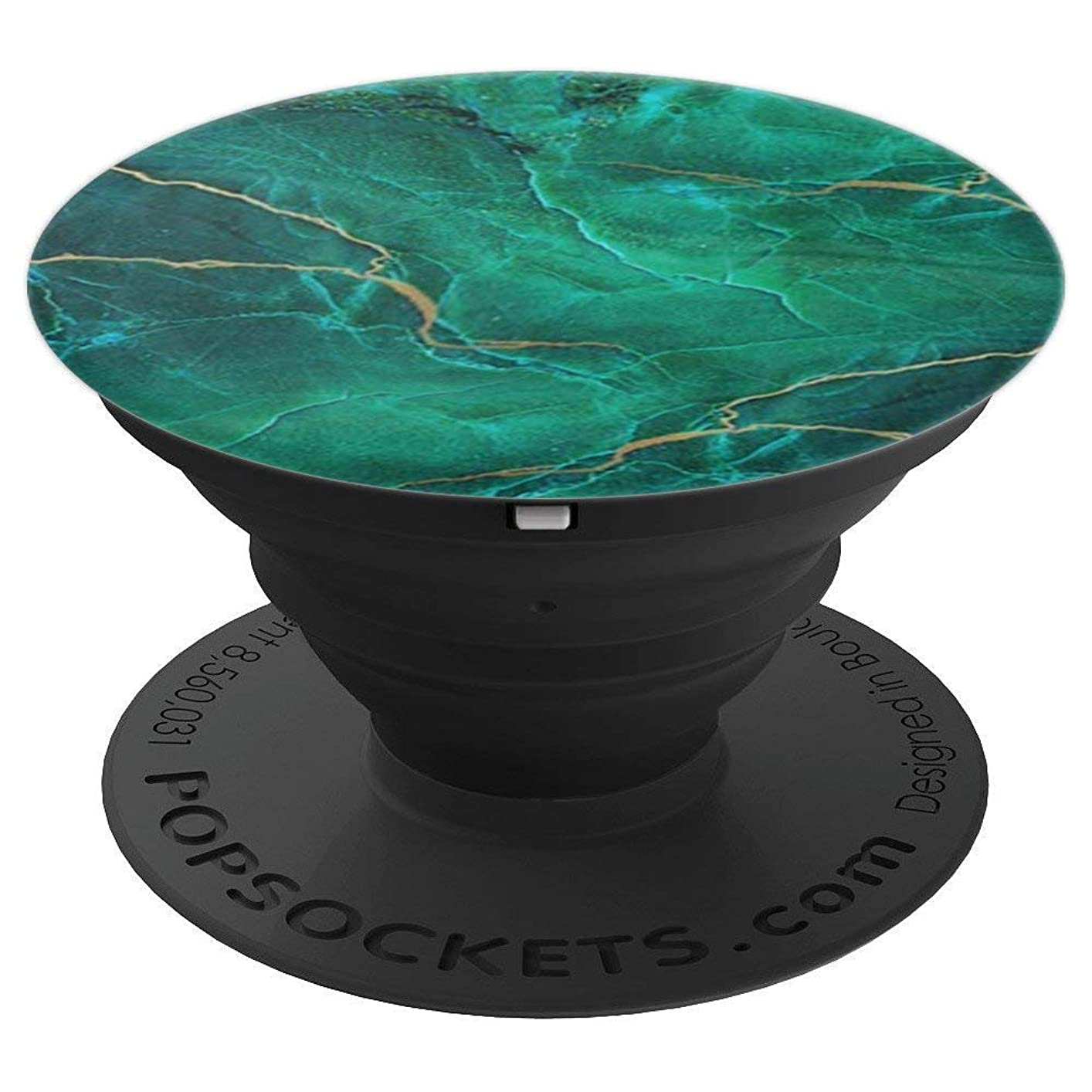 Pop Socket Marble Chic Green Gold Teal Marble Design - PopSockets Grip and Stand for Phones and Tablets