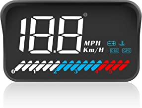$29 » TIMPROVE 3.5'' Universal Car HUD Head Up Display OBD2 GPS Dual Mode Speedometer Tachometer, Km/h MPH, Error Code Clear, Engine RPM, Multifunctional Car Speed Display Projector for All Vehicles