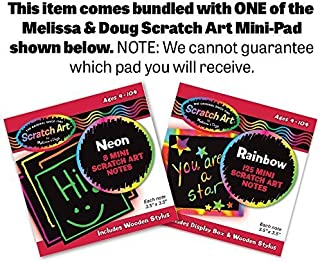 Melissa & Doug Deluxe Latches Board & 1 Scratch Art Mini-Pad Bundle (03785)