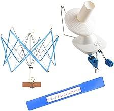 Yarn Ball Winder and Umbrella Swift (with Skein Holder) Basic Combo Set