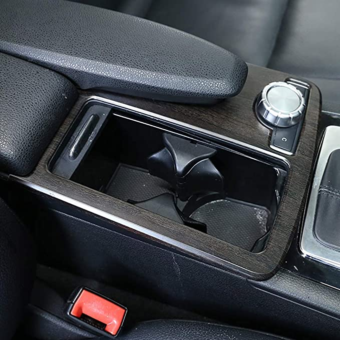 2014 pour Benz Classe E W212 Coup/é W207 C207 avec conduite /à droite. DIYUCAR Cadre de porte-gobelet pour console centrale de voiture en ABS argent/é mat pour Classe C W204 2008