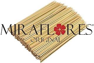 100 Palillos de Bamboo desechable - disponibles en diferentes tamaños - Ideales para brochetas de carne, verduras, frutas y pasteles - CALIDAD Y Resistencia cabecero 30 cm