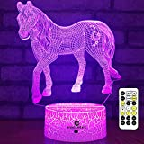 Easuntec Horse Gifts for Girls,Horse Toys Night Lights for Kids with Timer Remote Control & Smart Touch 7 Colors Birthday Gifts for Girls Age 2 3 4 5 6 7 8 9 Year Old Girl Gifts (Horse)