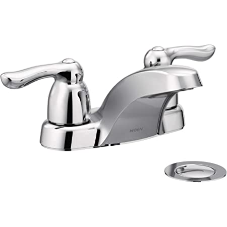 Moen 4925 Chateau Two Handle Low Arc Bathroom Faucet Chrome Touch On Bathroom Sink Faucets Amazon Com