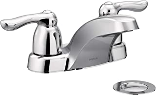 Moen 4925 Chateau Two-Handle Low Arc Bathroom Faucet, Chrome