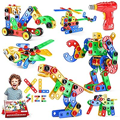 Jasonwell STEM Toys Building Blocks - 168 PCS Educational Construction Tiles Set Engineering Kit Creative Activities Games Learning Gift for Toddlers Kids Ages 3 4 5 6 7 8 9 10 Year Old Boys Girls from Jiaxin