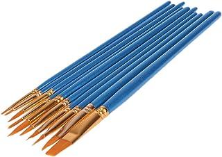 Paint Brush - 10Pcs Watercolor Paiting Brush Pen Nylon Hair Drawing Artist Paint Point Tip Set - WX-YIYASURFANTET