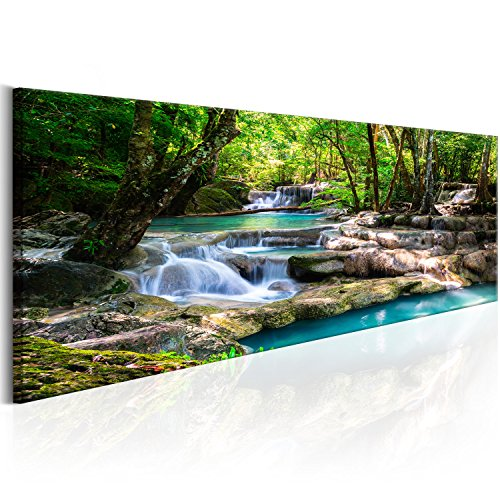 murando Akustikbild 135x45 cm Bilder Hochleistungsschallabsorber Schallschutz Leinwand Akustikdämmung 1 TLG Wandbild Raumakustik Schalldämmung - Natur Landschaft Wasserfall c-B-0258-b-a