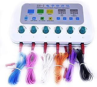 LYHD TENS EMS Multifuncional Electroestimulador Estimulador Muscular Masajeador Electro 6 Canales Digital Acupuntura Masajeador Corporal Meridiano Máquina de Fisioterapia Muscular de Relajación