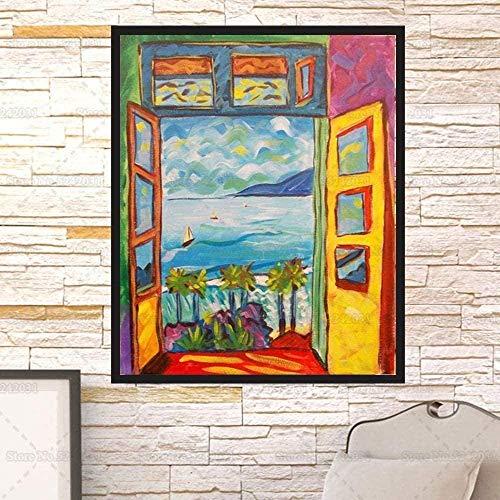 DGSJH Puzzles für Erwachsene Puzzles Puzzles Puzzle Offenes Fenster In Collioure Erwachsene Matisse Berühmte 1000-teilige Holzpuzzles Kinder Erwachsene Kinderspielzeug