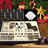 Silverware Set, HOBO 24 Pieces Flatware Cutlery Set, Japan Stainless Steel Dinnerware Set,Tableware...
