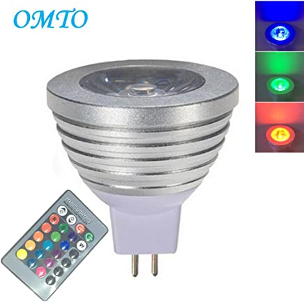 OMTO MR16 3W RGB Color Changing Spotlight with IR Remote Control Mood Ambiance Lighting Colorful LED