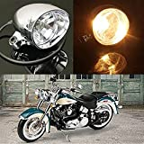 TUINCYN Faros redondos de motocicleta / faros antiniebla DC 12V Moto...