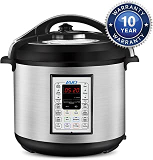 IAIQ Premium 8 Quart Pressure Cooker with 13-in-1 Cook Modes Including Slow Cooker and Manual Electric Pressure Cooker   Stainless Steel