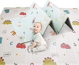 Baby Play Mat Plegable Baby Care XPE Playmat Foam Mat para piso piso Crawl Mat para Baby Slip Espuma extra grande Impermeable Portátil Niños Niño al aire libre (200x150x1cm)