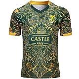Maillot De Rugby De L'équipe De Sport Sud-Africain 2019 Springboks 7s, Maillot 100e Anniversaire édition Nouveau Maillot De Rugby en Tissu (S-XXXL)-L