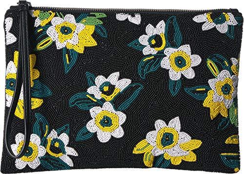 Sam Edelman Women's Abigail Beaded Clutch Black Multi One Size
