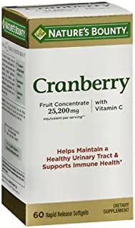 Nature's Bounty Cranberry Dietary Supplement 60 Soft Gels (Pack of 12)