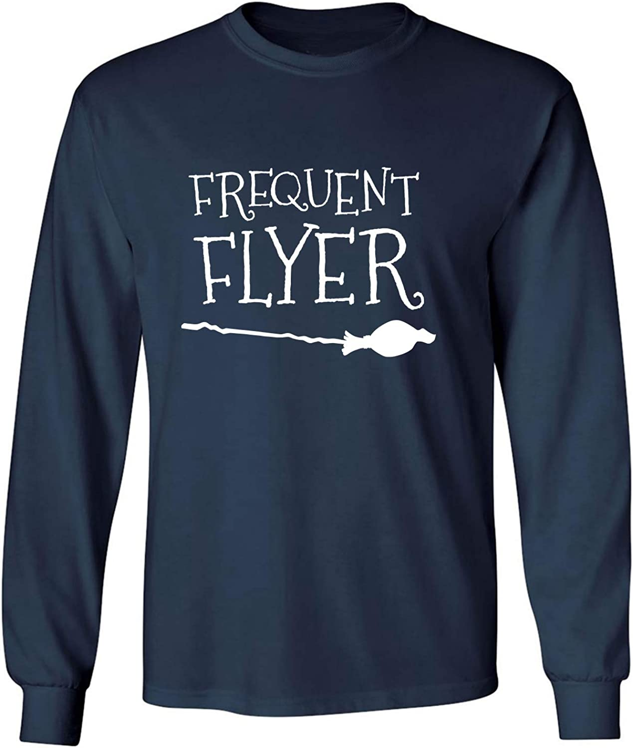 Frequent Flyer Adult Long Sleeve T-Shirt in Navy - XXXX-Large